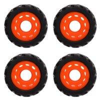 4 Pieces Professional Wearproof PU Rubber Wheels For Longboard/ Mountainboard