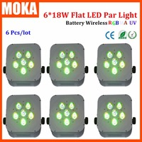 6PCS/LOT Led Par Light Led Light 18W Wireless Battery Uplights 6PCS for Wedding Decoration Dj Party Disco