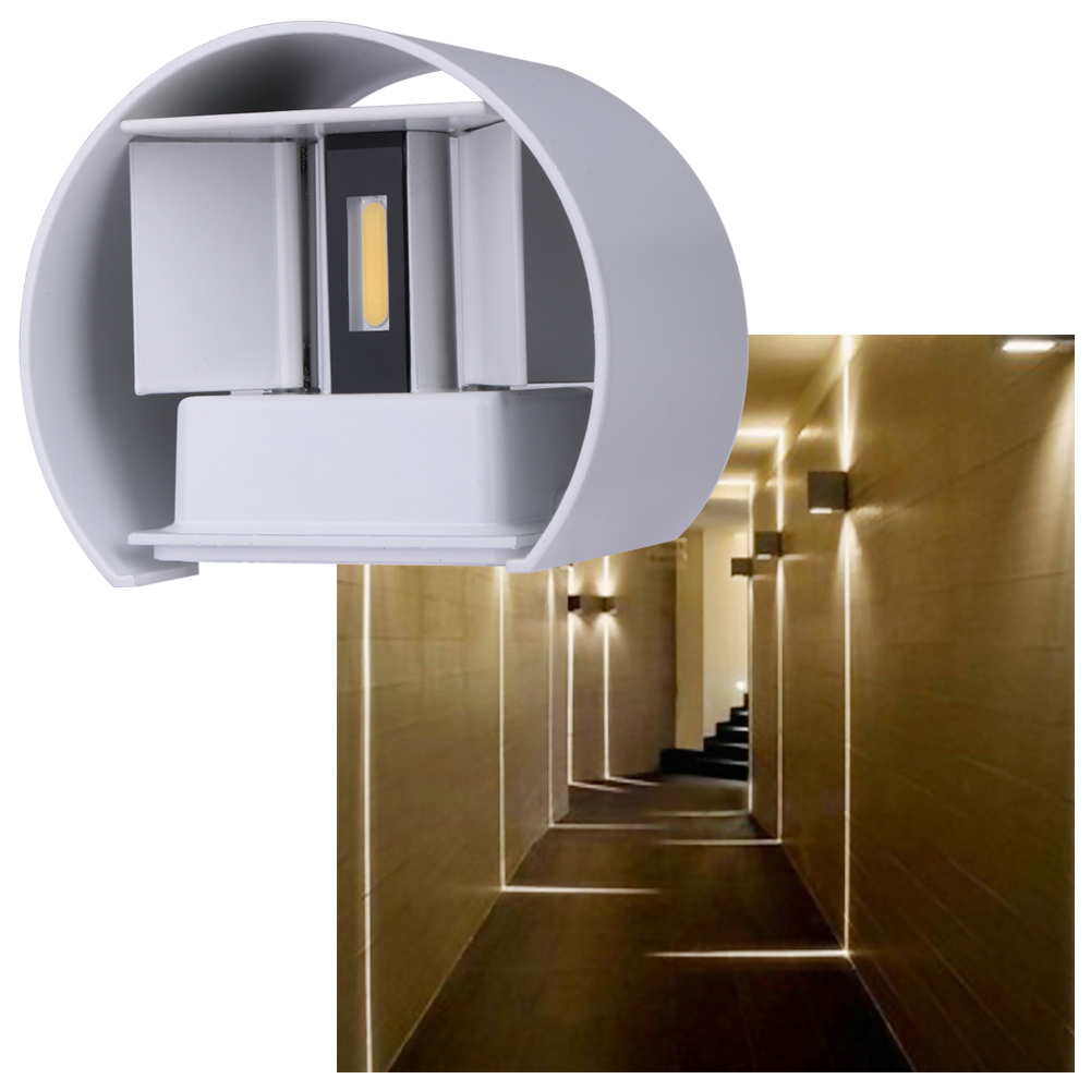 7W Led Outdoor Aluminum Wall Lamp IP67 Surface Mounted Indoor Outdoor Led Garden Corrido ...