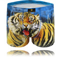 2017 hombre calzoncillos impresión 3d tiger underwear boxeadores del algodón de los hombres