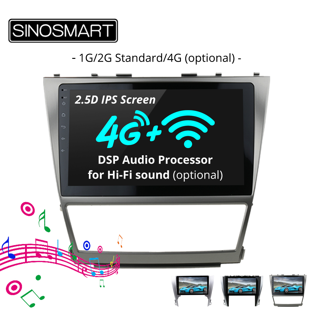SINOSMART 2 5D IPS Screen 1G 2G Car GPS Navigation Player for Toyota Camry Orion 2006