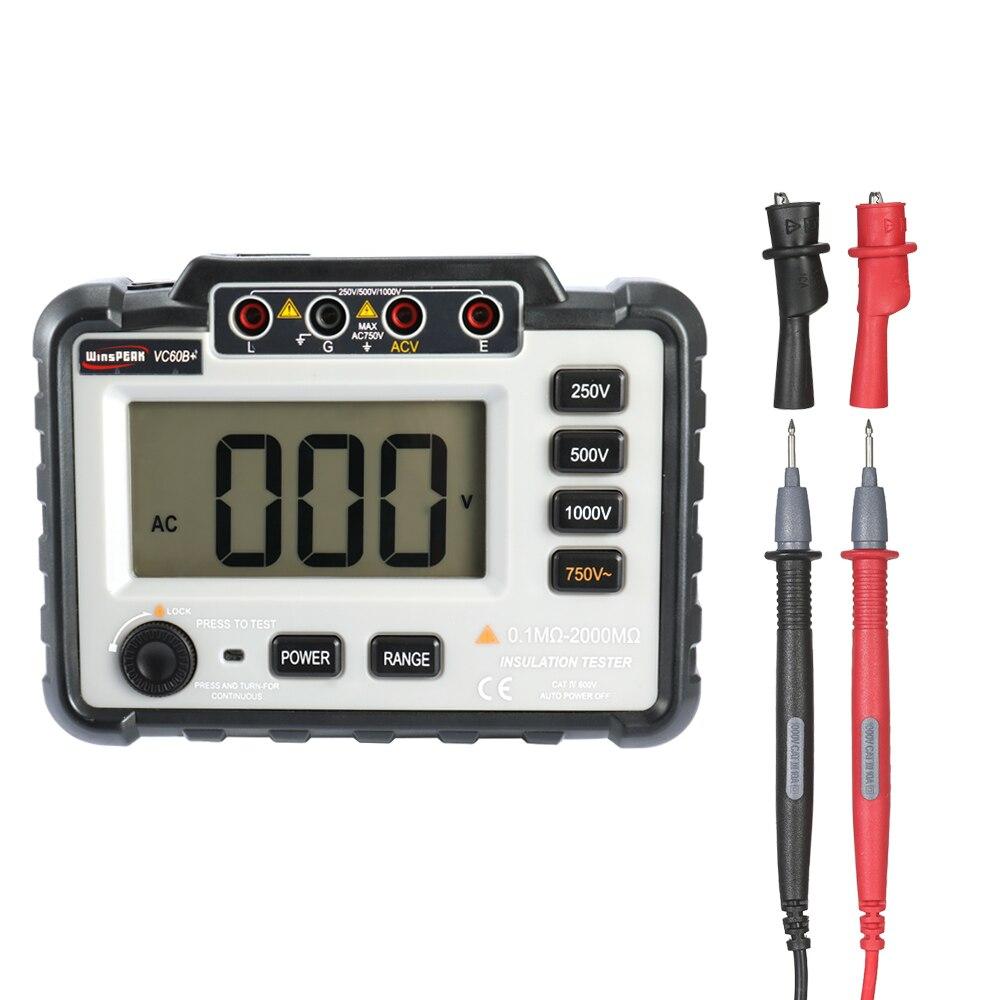 Testeur de résistance d'isolation faible perte Ratio élevé compteur d'isolation numérique ohmmètre megamètre 250 V/500 V/1000 V DC tension de sortie