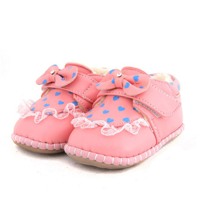 Soft Soled Genuine Leather Baby Shoes First Walker Lace 1 Year Fashion Cute Princess High Quality Baby Shoes Winter 70A1065
