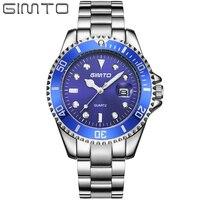 Top Brand Luxury Quartz Men Watches Steel Carendar Clock Dress Wriswatch Big Dial Waterproof Sport Male