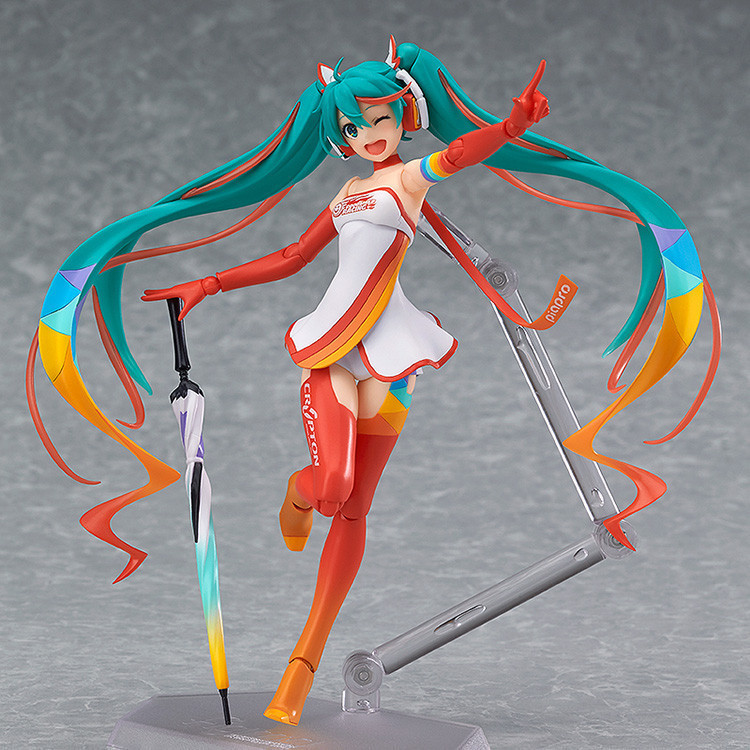 Anime Hatsune Miku Figma SP-078 Racing Miku 2016 Ver. PVC Action Figure Collectible Model Kids Toys Doll 14CM dota 2 variant action figure figma sp 070 windranger variable doll pvc action figure collectible model toy 14cm kt3545