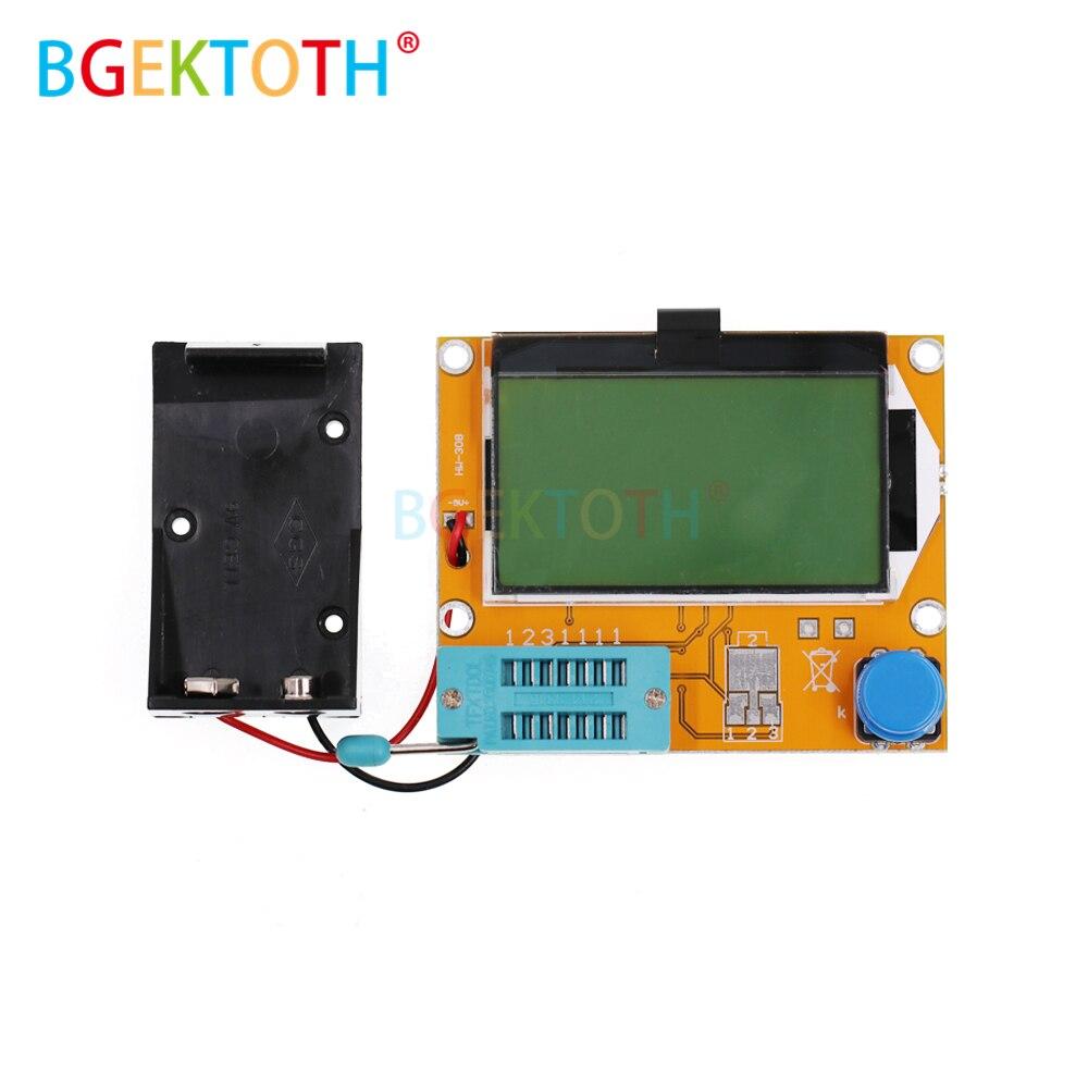 LCR-T4 128*64 9V LCD Digital Transistor Tester Meter Backlight Diode Triode Capacitance ESR Meter For MOSFET/JFET/PNP/NPN L/C/R