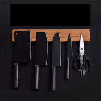 Magnetic tool holder Bamboo material wall magnetic knife holder kitchen magnetic magnet knife holder iron magnetic tool holder