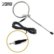 Один Заушник проводной конденсаторный микрофон гарнитуры 3.5 мм Винт Нитки разъем MIC Майк Для Беспроводной Системы поясной передатчик