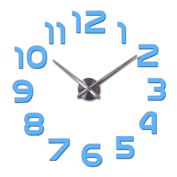 top fashion 3d wall clock reloj de pared quartz watch modern diy clocks living room large decorative horloge murale  stickers 7