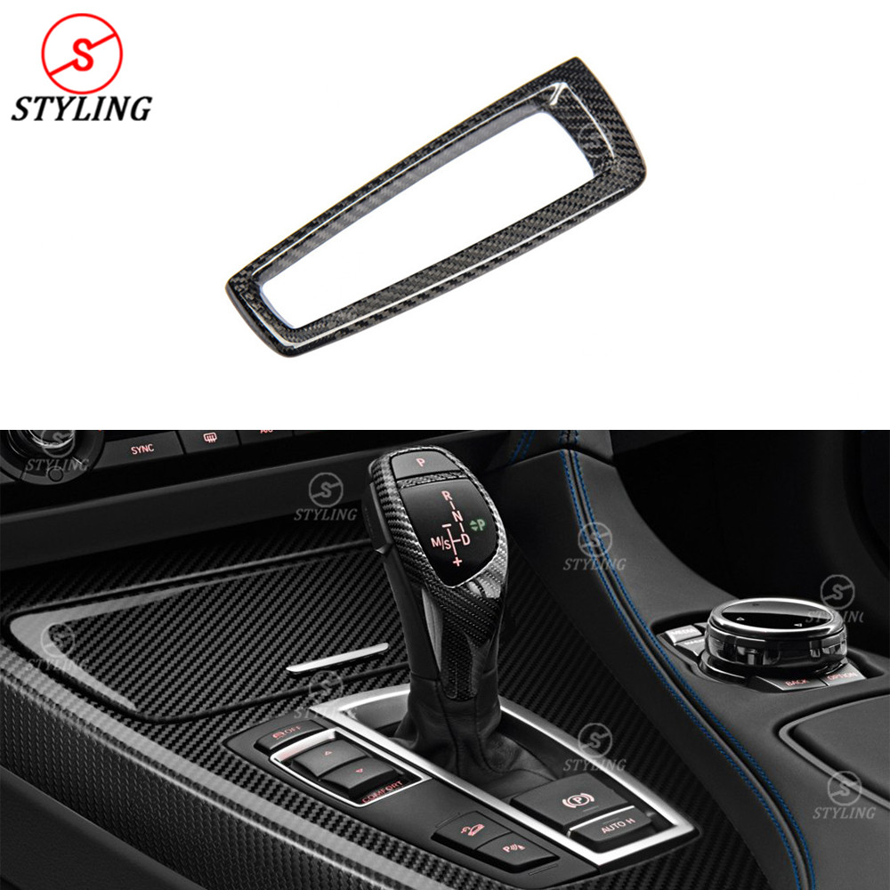 For BMW F10 Base Cover Interior Trim 5 6 7 Sereis F10 F07 F12 F06 F01 F02 Carbon Fiber Gear Base Cover sticker LHD Only 2009-UP awo 400 0401 00 projector lamp with housing for projection design f1 sx f1 sxga f10 1080 f10 as3d f10 wuxga f12 1080 f12 sx