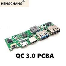 Carga rápida 3.0 parte do banco de potência pd3.0 li ion bateria pcba placa circuito de alimentação pcb 5v2a 9v2a 12v1.5a módulo impulsionador usb