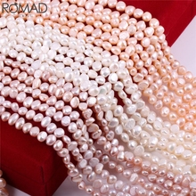 ROMAD Natural Pearl Beads for Jewelry Making Baroque Beads Irregular Women necklace Bracelet Natural Pearl beads Bulk pearls R5 недорого