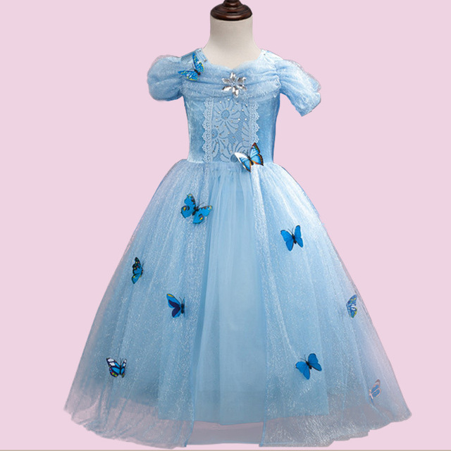 2017 New Girl Cinderella Dress Costume Princess Party Dresses Girls ...