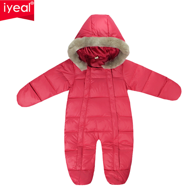 Brand 2016 Russia Baby Girls Clothing White Duck Down Winter Thicken Baby Boys Coat Newborn Down Snowsuits Infantil Overalls