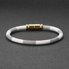 MINCN New fashion mens magnet buckle high quality retro bracelet lady brave Knight leather Bracelet  bracelets 2018