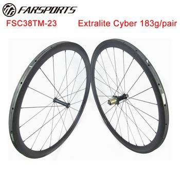 1053 г/компл.! Легкие дорожные велосипедные колесики 38 мм 23 мм трубчатые диски с экстралитным кибер-хабом, гарантия 18 месяцев