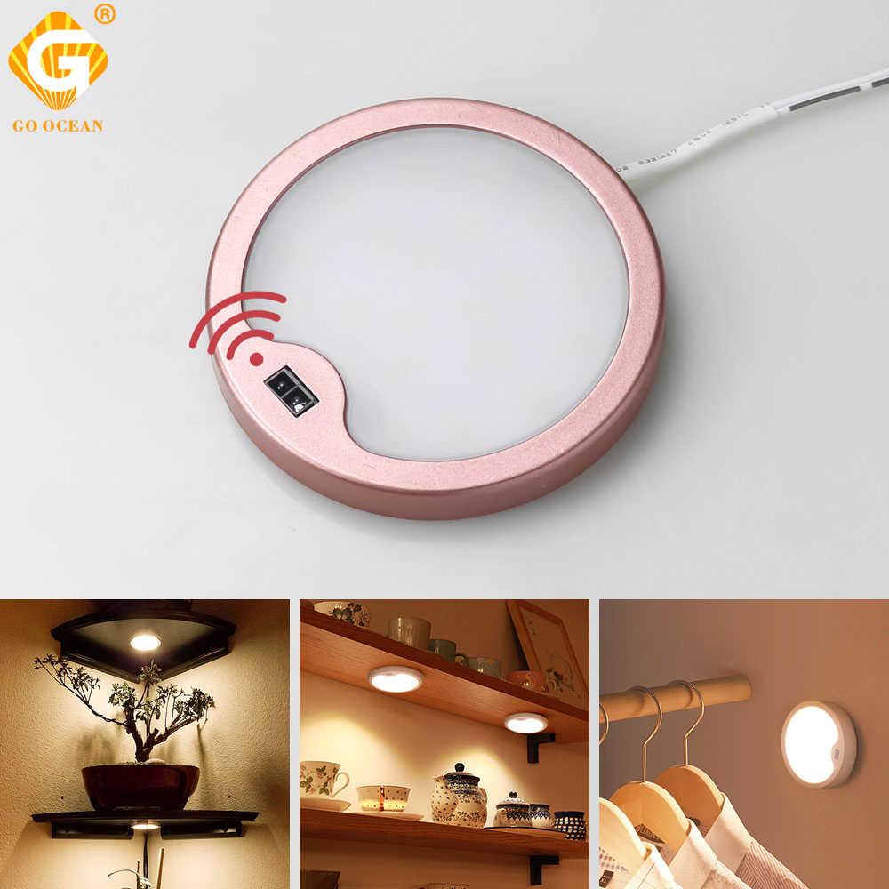 SMD2835 СВЕТОДИОДНЫЙ чипы лампа с датчиком движения кухонный шкаф датчик движения 12 В DC под шкаф лампы 3 Вт шкаф ночное освещение