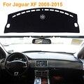 2016 Car Styling Sombra Protectora Dashboard Mat Cojín Pad Photophobism Alfombra Interior Para Jaguar XF 2008-2015