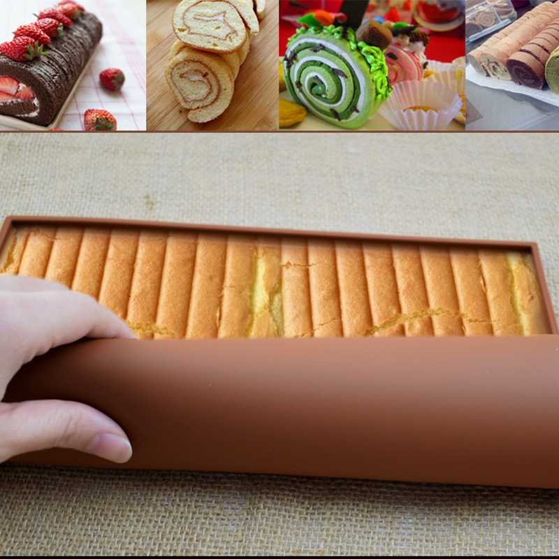 Swiss Roll Mat Tools Nonstick Baking Pastry Silicone Baking Mat