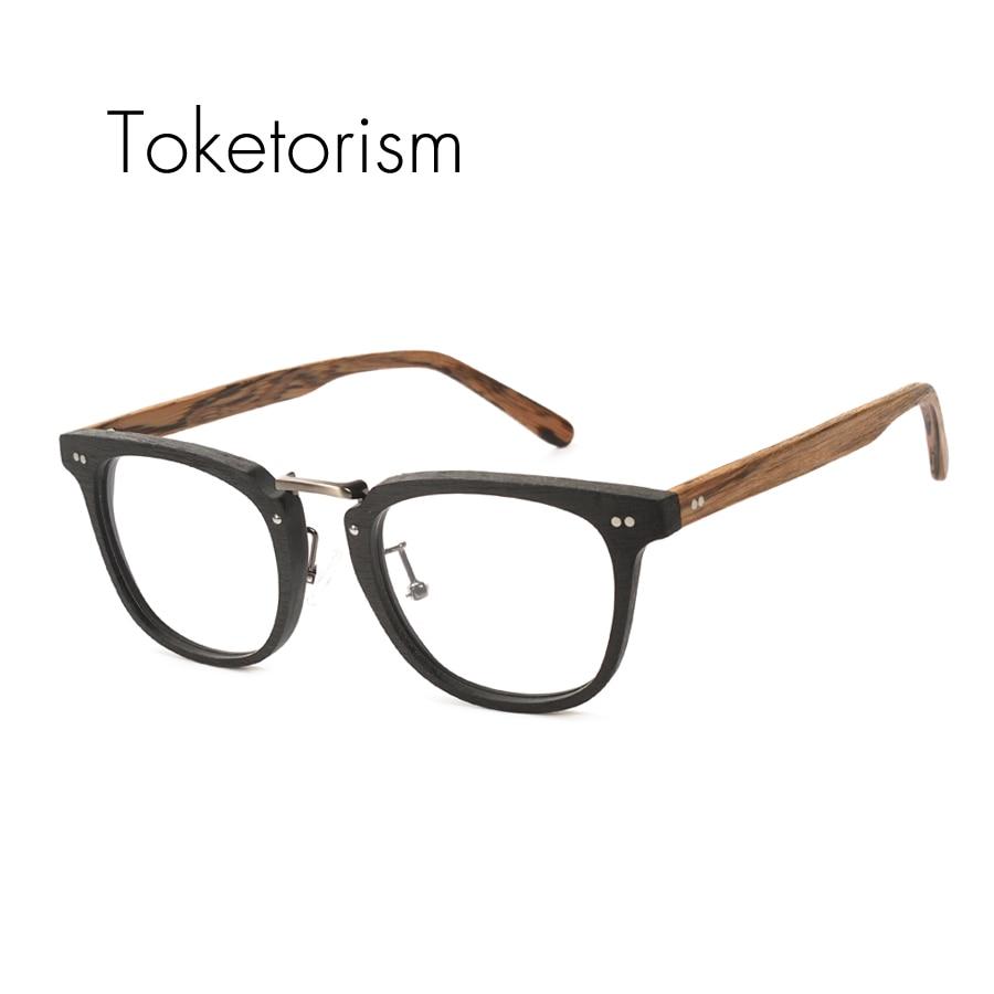 Toketorism gafas de moda de grano de madera artificial marco hombres - Accesorios para la ropa