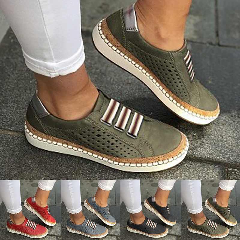 Litthing Da Giày Loafer Cho Nữ Slip-On Sneaker Thoải Mái Cho Nữ Đế Phẳng Tenis Feminino Zapatos De Mujer