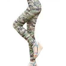One Size Army Print Skinny Leggings High Elastic Waist Skinny Leggings Female Sheath full Length Trousers