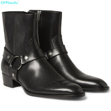 Handmade Vintage Men Chelsea Boots Genuine Leather Suede Rome Style Man Ankle Boots Zipper Male Dress Boots Shoes цена 2017