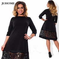 high quality women fashion 2017 new autumn dress 5xl 6xl large size vintage retro dress For Fat robe femme lady bodycon clothes