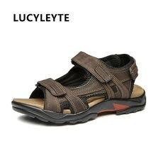 3fd7b80a2 A nova primeira camada de couro sandálias de couro respirável sandálias de  dedo exposto não-slip de comércio exterior grande tam.