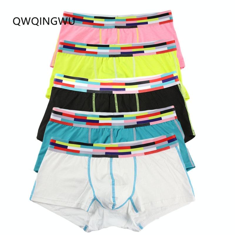 5PCS/Lot Sexy Underwear Cotton Men Boxer Solid Men's Boxers Breathable Cuece Underpants For Man Fashion Boxer Short High Quality