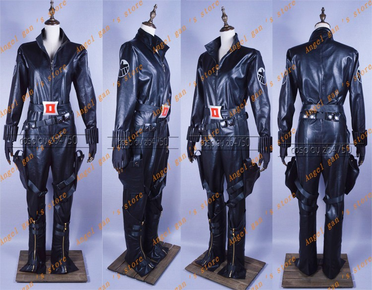 Free shipping Custom made High quality The Avengers Black Widow Captain America Movie Cosplay Costume