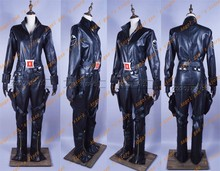 Free shipping Custom-made High quality The Avengers Black Widow Captain America Movie Cosplay Costume