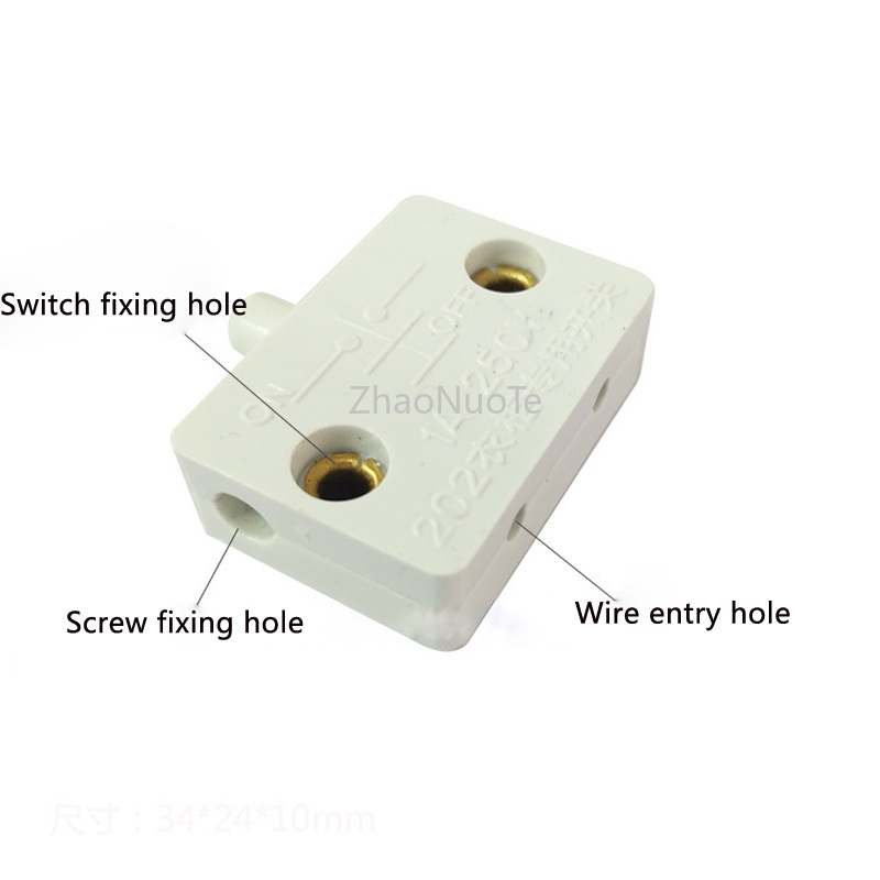 Image 2 - 10pcs Wardrobe Light Switch Door Touch Switch Automatic Lighting for Bedside Table Wine Cabinet Cupboard Door Control-in Switches from Lights & Lighting