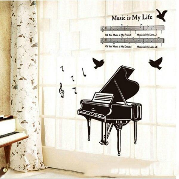 Fashion Music Symbol Piano Sheet Music Type Bedroom Study Diy Decor
