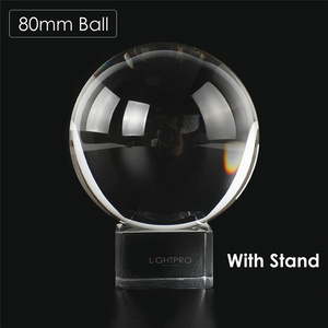 Image 5 - 50/60/70/80/90/100/110mm Photography Crystal Lens Ball Asian Quartz Clear Magic Glass Ball w/ Portable Bag for Photo Shooting