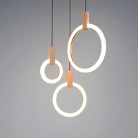 Modern LED Living Room Suspended Lamps Novelty Bedroom Fixtures Nordic Acrylic Pendant Lights Restaurant Hanging Lights