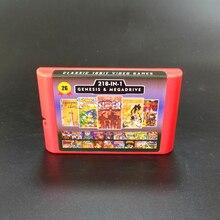 2G Gioco di Carte 218 in 1 Batteria Risparmia Per Sega Genesis Megadrive Video Game Console con Phantasy Star II IV Crociato Di Centy Melma