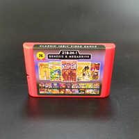 2G Spiel Karte 218 in 1 Batterie Sparen Für Sega Genesis Megadrive Video Spiel Konsole mit Phantasie Star II IV Kreuzfahrer Von Centy Schlamm