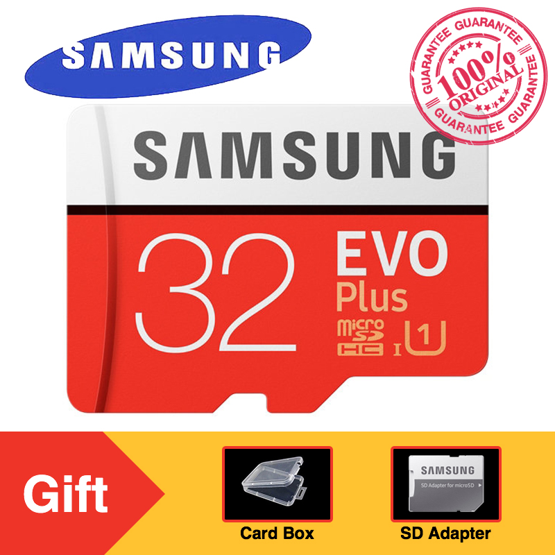 SAMSUNG EVO Plus Micro SD Memory Card 32GB Class10 microSDHC U1 UHS-I C10 TF Card 4K HD wi