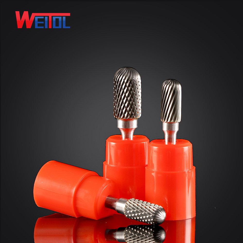 Weitol 1pcs 6mm C Type Carbide Rotary Files Single Cut Carbide Burrs Power Tools Carbide Cutter Abrasive Burs