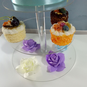 Image 3 - Acrylic Cake Stand Round Cup Cupcake Holder Wedding Birthday Party Decorations Dessert Sugarcrafts Display Stands 2019