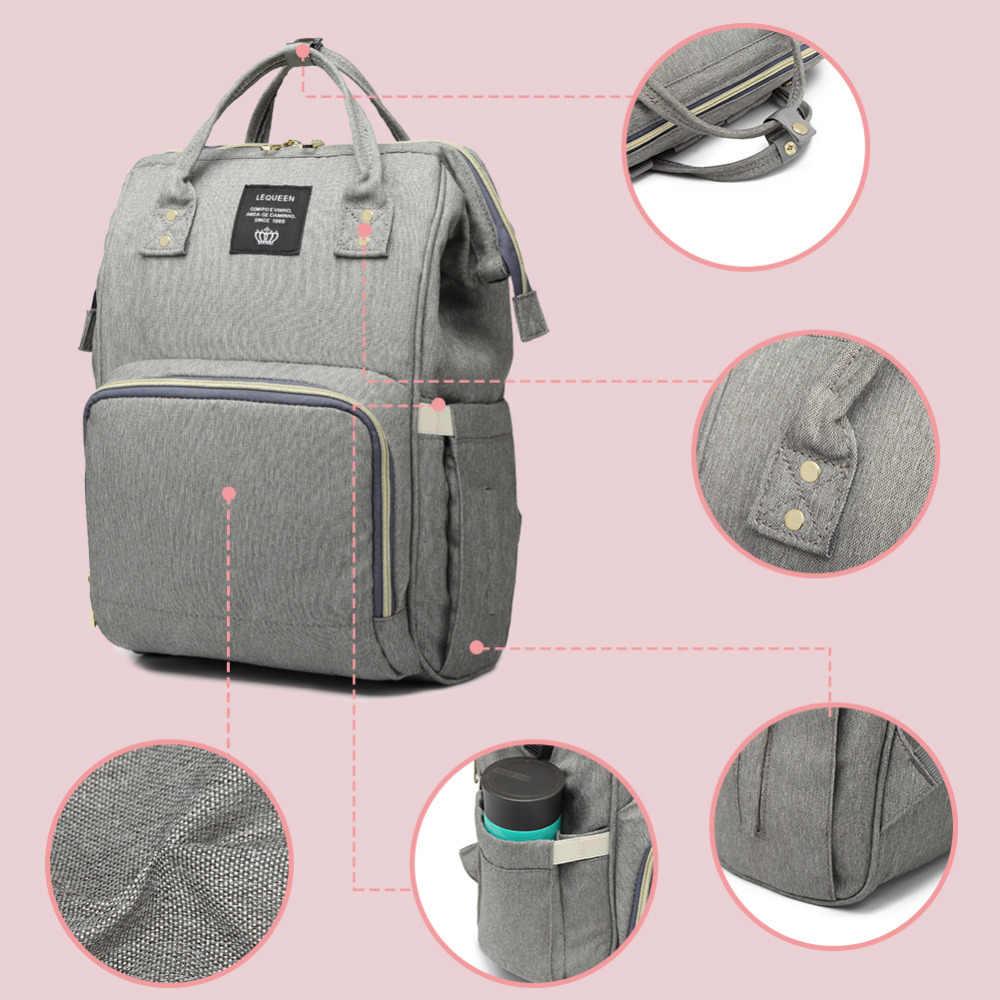 Зарядка через usb Мумия подгузник пеленки мешок большой Ёмкость Водонепроницаемый для беременных и кормящих путешествия рюкзак сумка для детской коляски Baby Care сзади