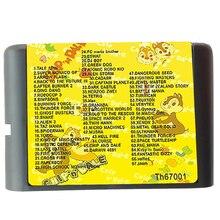 MD 67 Em 1 cartucho de Jogo Com Alien 3, Musha, Turrican, Menina mágica. Zoom, PAC Mania MegaDrive GENESIS SEGA de 16 bits Do Jogo