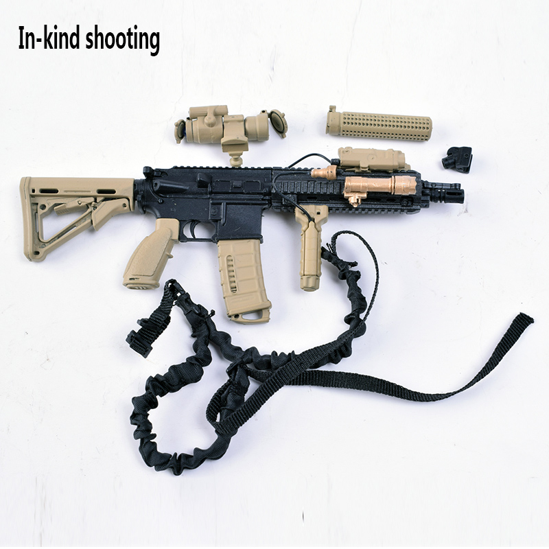 1/6 Scale Guns Weapon Model Sand HK416 4D firearms Assembled Toys Gun Weapon Toys For 12 Inch Soldier Action Figure Accesssories 1 6 scale 4d assembling qsz92 pistol model gun weapon mode kids toys for 12 action figure accessories collectible gifts e