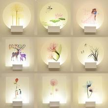 Modern Simple Bedroom Wall Lamps Bedside Creative Personality Warm Study Corridor Lights For Bathroom Wall Light Up Down
