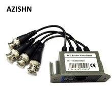 AZISHN transceptor de vídeo pasivo 4 canales HD Balun BNC a UTP RJ45 CCTV a través de pares trenzados para AHD TVI CVI Cámara DVR CCTV sistema