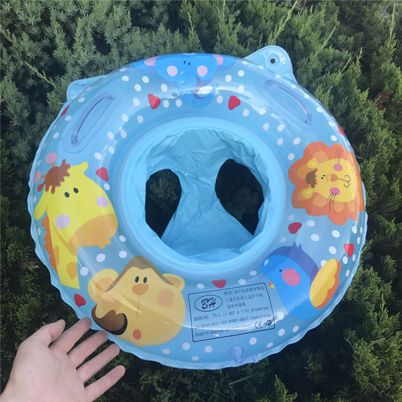 Baby Swim Ring Inflatable Boat Kids Swimming Pool Accessories Infant Armpit Floating Circle Bathing Inflating Ring Floating Seat
