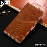 Huawei Honor 6A Case K Try Retro Pu Leather With Soft Silicone Cover Capa For Huawei