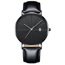 mens sports ultra thin wrist watchs minimalist classic quartz watch business casual brand fashionable design