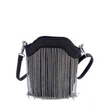 Chain Bucket Bags Handbags Women Famous Brands Fashion Tassel Small Women Shoulder Bags Designer Handbags High Quality